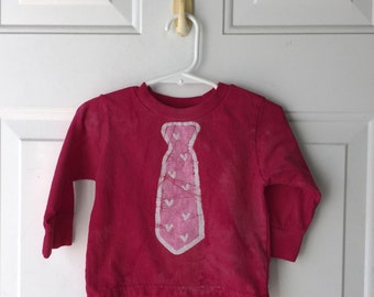 Valentine's Day Shirt, Boys Valentine's Day Shirt, Girls Valentine's Day Shirt, Kids Shirt with Tie, Kids Valentines Shirt (18 months)