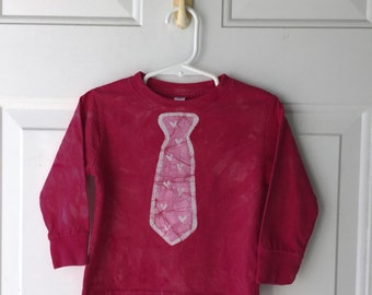 Valentine's Day Shirt, Boys Valentine's Day Shirt, Girls Valentine's Day Shirt, Kids Valentines Shirt, Kids Shirt with Tie (2T)