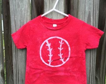 Kids Baseball Shirt, Toddler Baseball Shirt, Red Basebal Shirt, Boys Baseball Shirt, Girls Baseball Shirt, Baseball Kids Shirt (18 months)