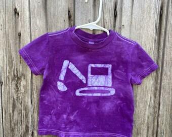 Kids Excavator Shirt, Kids Digger Shirt, Kids Truck Shirt, Boys Truck Shirt, Girls Truck Shirt, Construction Shirt, Purple Truck Shirt (2T)