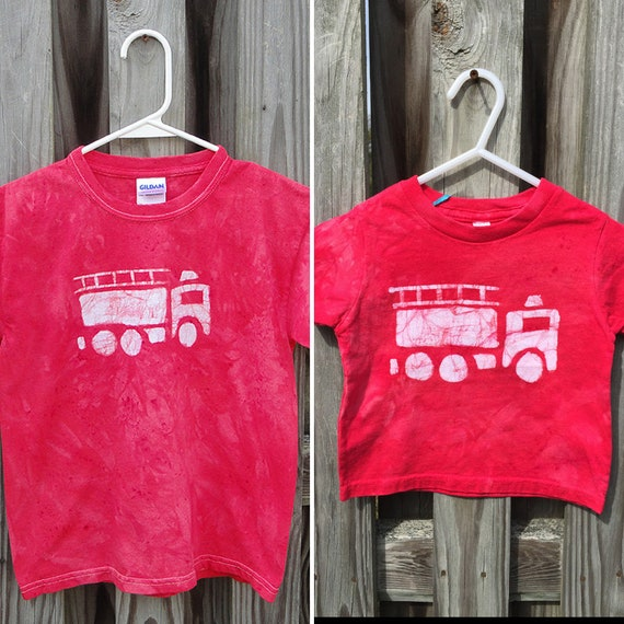Mommy and Me Fire Truck Shirts, Mommy and Me Outfits, Matching Mom and Child Shirts, Mother's Day Gift, Matching Mom and Son Shirts