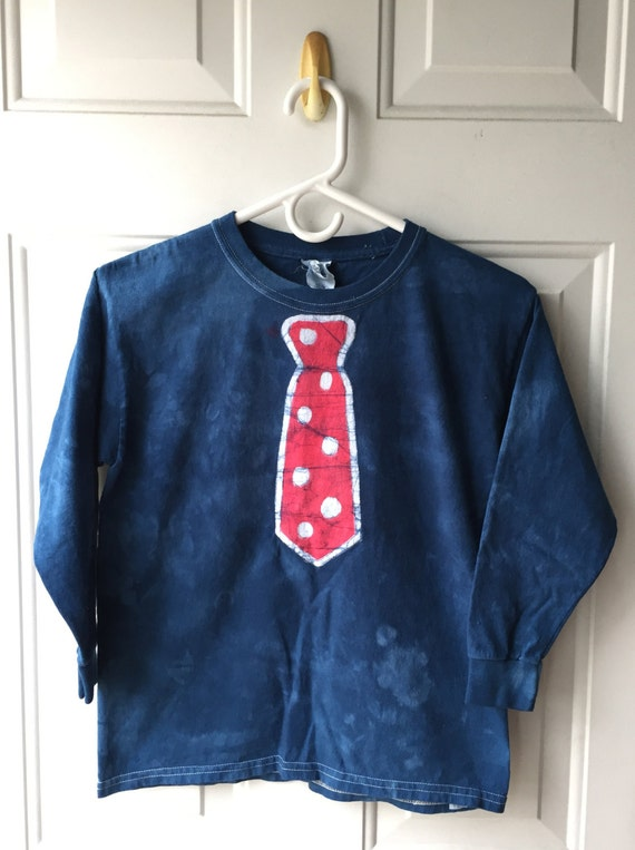 Blue Tie Kids Shirt, Kids Necktie Shirt, Boys Tie Shirt, Girls Tie Shirt, Funny Kids Shirt, Funny Boys Shirt, Patriotic Shirt (Youth M)