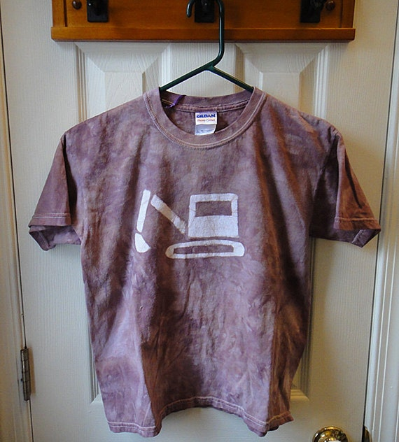 Kids Excavator Shirt, Kids Digger Shirt, Kids Truck Shirt, Boys Truck Shirt, Girls Truck Shirt, Brown Truck Shirt, Batik Truck (Youth L)