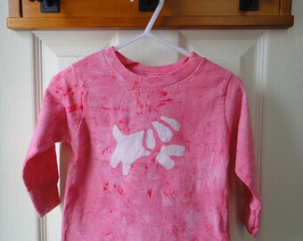 Kids Dog Shirt, Pink Dog Shirt, Girls Dog Shirt, Pink Puppy Shirt, Toddler Dog Shirt, Kids Puppy Dog Shirt, Pink Kids Shirt (18 months) SALE