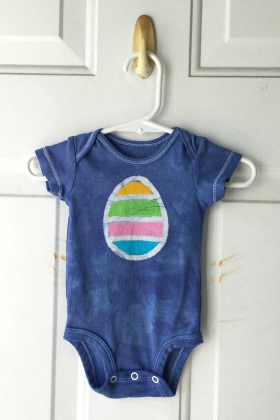 Baby Easter Bodysuit, Baby Easter Shirt, Easter Egg Bodysuit, Blue Easter Egg Shirt, Baby Boy Easter, Baby Girl Easter (3 months)