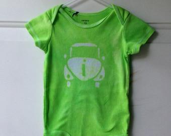 Car Baby Bodysuit, Baby Car Bodysuit, Green Car Bodysuit, Gender Neutral Baby Gift, Baby Shower Gift, Car Baby Boy (12 months)
