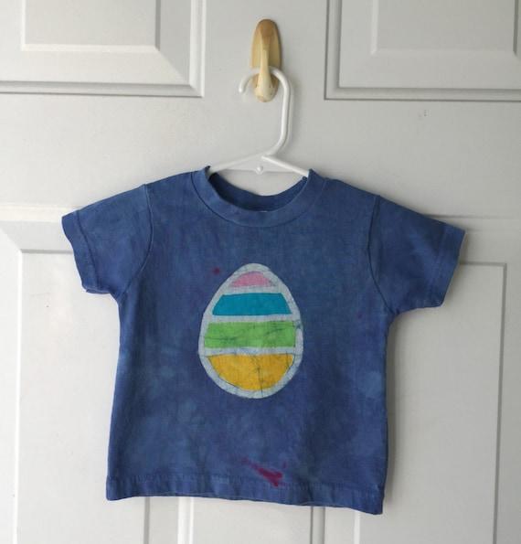 Kids Easter Shirt, Easter Egg Shirt, Boys Easter Shirt, Girls Easter Shirt, Blue Easter Shirt, Blue Easter Egg Shirt (18 months)