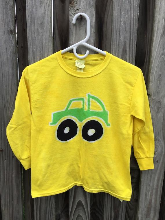 Kids Truck Shirt, Kids Monster Truck Shirt, Green Monster Truck Shirt, Boys Truck Shirt, Yellow Truck Shirt, Girls Truck Shirt (Youth S)