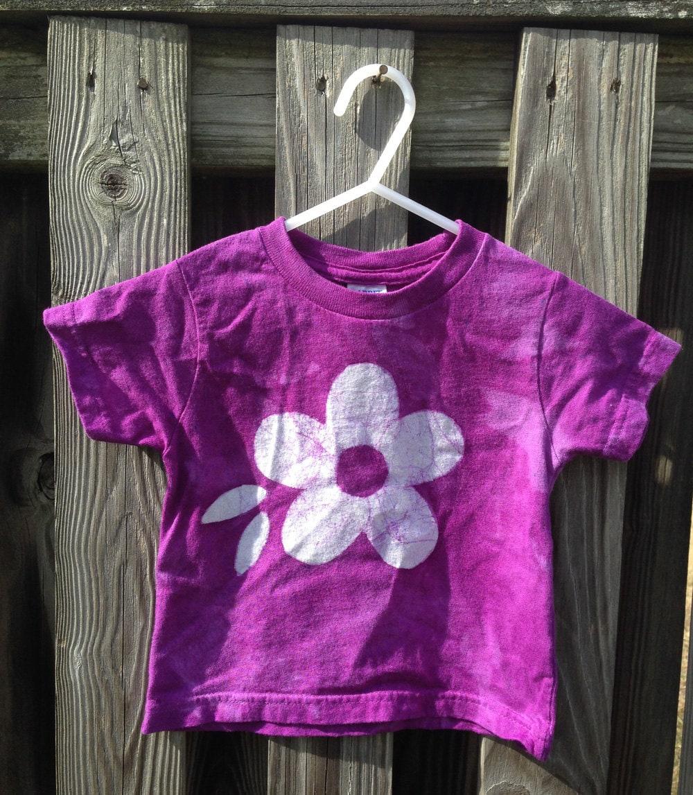 Toddler Girls Shirt Purple Girls Shirt Flower Girls Shirt Toddler