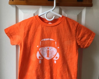 Kids Car Shirt, Orange Car Shirt, Kids Beetle Shirt, Boys Car Shirt, Girls Car Shirt, Kids Volkswagen Shirt, Orange Beetle (4T)