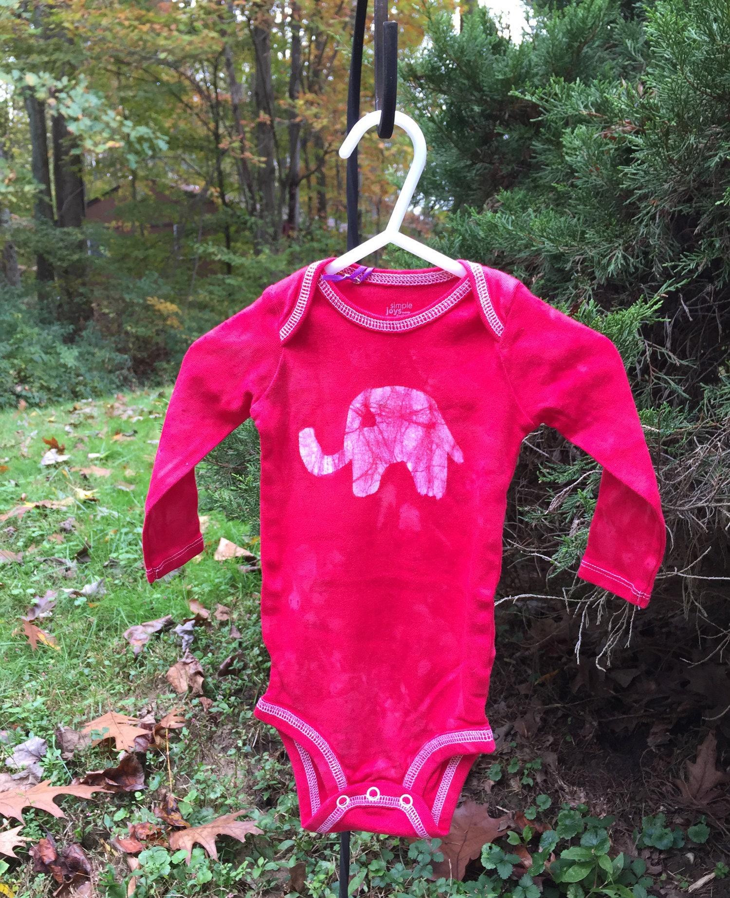 elephant baby gift elephant baby bodysuit red elephant bodysuit baby shower gift gender neutral baby baby christmas gift 6 9 months - Gender Neutral Christmas Gifts