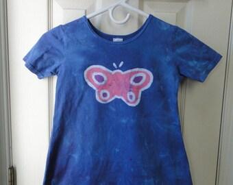 Blue Girls Dress, Girls Butterfly Dress, Blue Butterfly Dress, Butterfly Girls Dress, Batik Butterfly Dress, Girls Birthday Gift (6)
