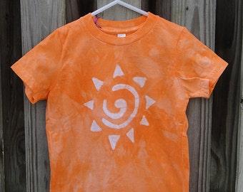 Kids Sun Shirt, Kids Orange Sun Shirt, Kids Sunshine Shirt, Batik Kids Shirt, Orange Kids Shirt, American Made Kids Shirt (4)