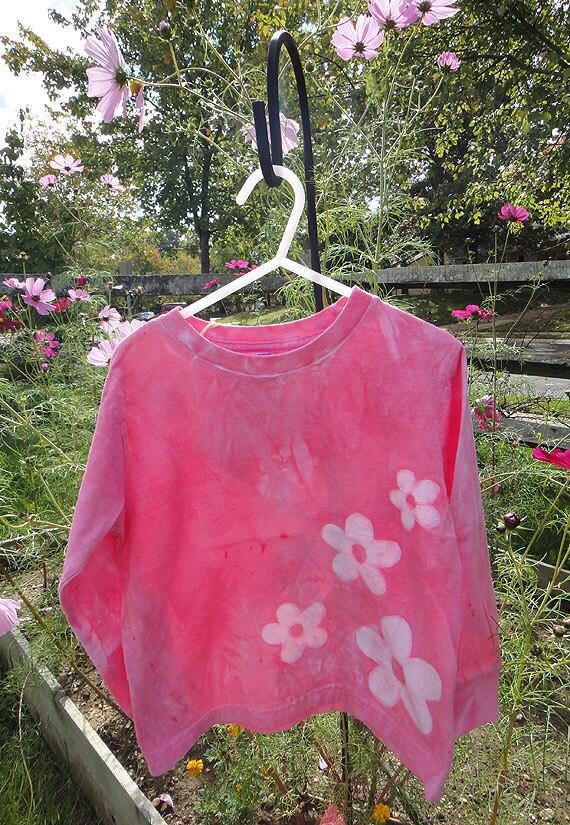 Pink Girls Shirt, Flower Girls Shirt, Pink Flower Girls Shirt, Girls Flower Shirt, Kids Flower Shirt, Long Sleeve Girls Shirt (4T)