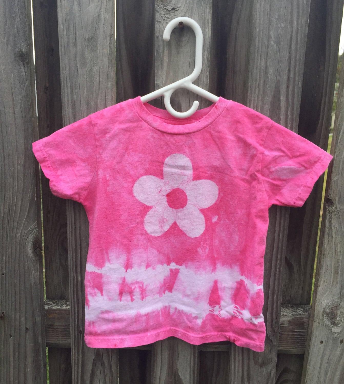 Girls Tie Dye Shirt Pink Tie Dye Shirt Kids Tie Dye Shirt Pink