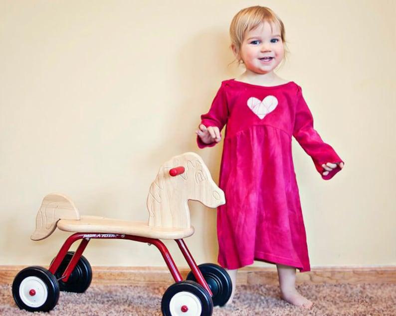 Toddler Girls Dress 18 months Purple Heart Dress Tie Dye Baby Dress Purple Baby Dress Baby Girls Dress Baby Valentine/'s Day Dress