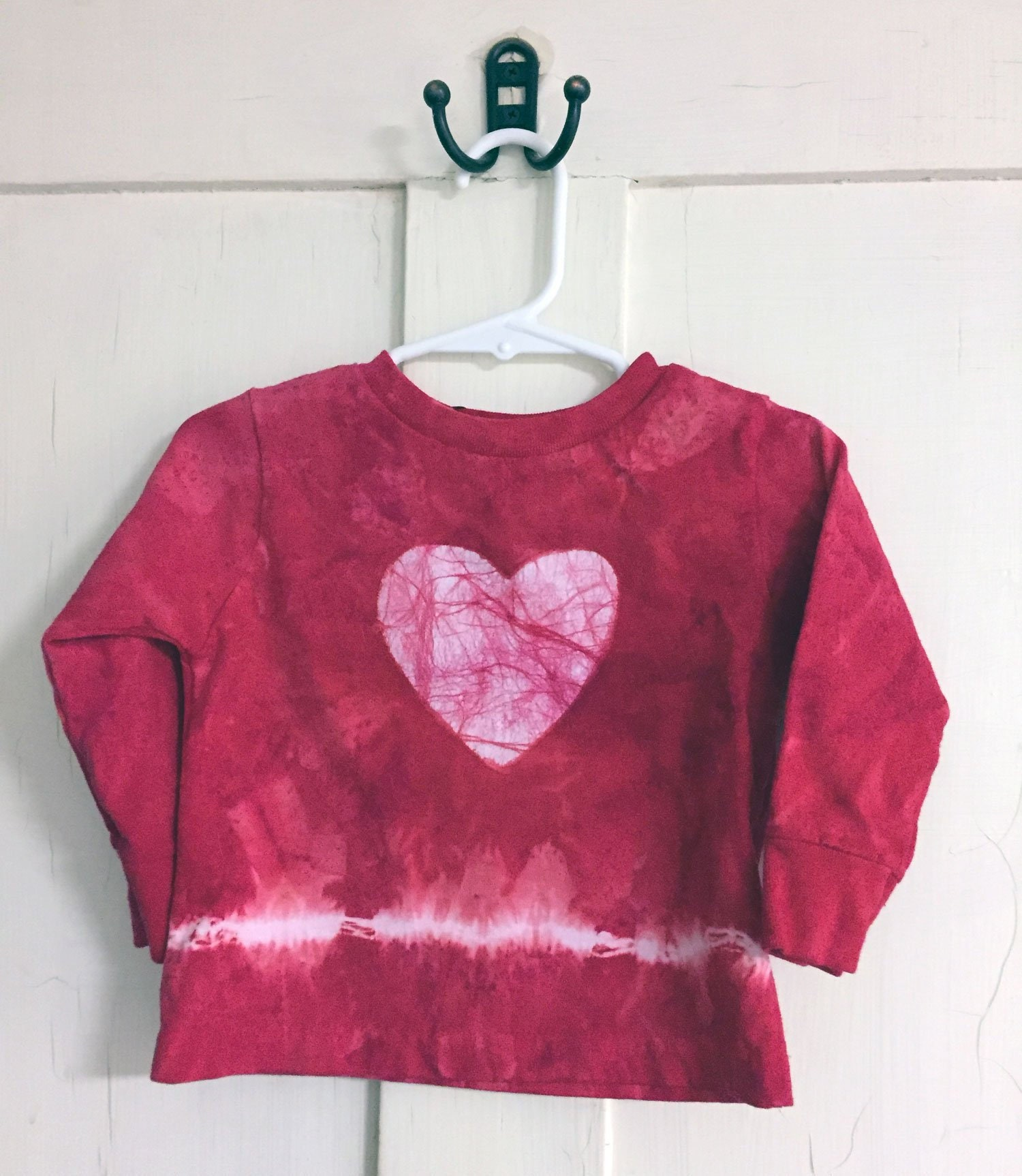 Kids Valentine S Day Shirt Red Heart Shirt Red Tie Dye Kids Shirt