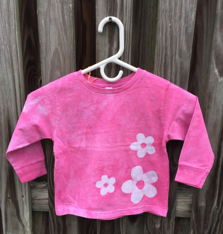 Flower Girls Shirt Pink Flower Girls Shirt Girls Flower Shirt