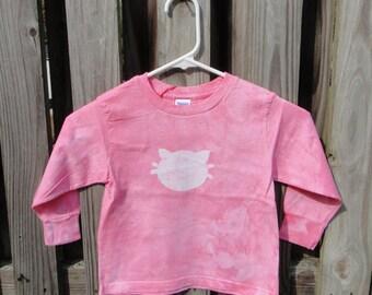 Pink Cat Shirt, Kids Cat Shirt, Girls Cat Shirt, Kids Kitten Shirt, Pink Kitten Shirt, Long Sleeve Cat Shirt, Kitty Cat Shirt (3T) SALE