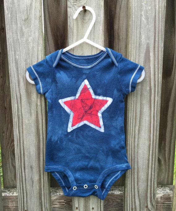 4th of July Baby Bodysuit, Patriotic Baby Bodysuit, Fourth of July Baby Shirt, Red Star Baby Bodysuit, Patriotic Baby Shirt