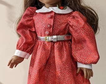 Sparkly Red Holiday Dress for 18 inch dolls such as American Girl or Gotz