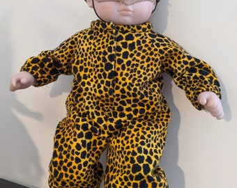Leopard Costume for 15 inch baby dolls