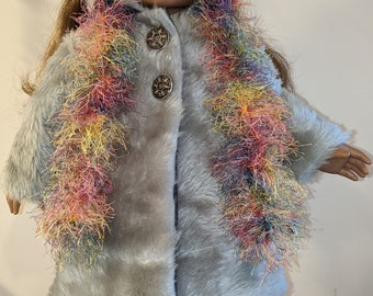 Faux Fur Coat and Scarf for 18 inch dolls