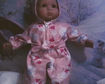 Hooded sleeper fro 15 inch baby dolls