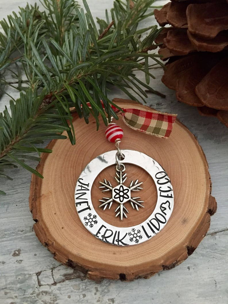 custom Christmas ornament  personalized Christmas ornament  image 0
