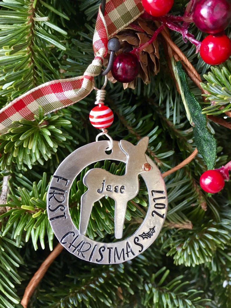 Babys first Christmas  personalized Christmas ornament  image 0