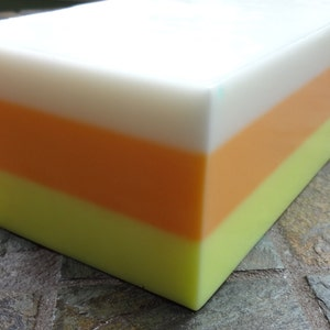 Candy Corn SoapDough Stamp 3D Printed
