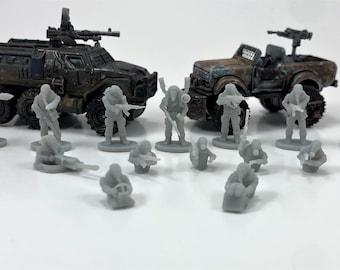 Gaslands Crew members Miniatures x14 SET 4 - Autokill - Car Wars - Hot Wheels 1/64 Dark Future Cultists