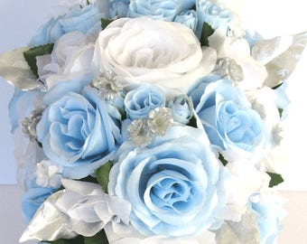Light Blue Bouquet Etsy
