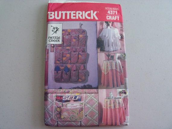 Butterick 4371 Tischdecken und Accessoires Schnittmuster | Etsy