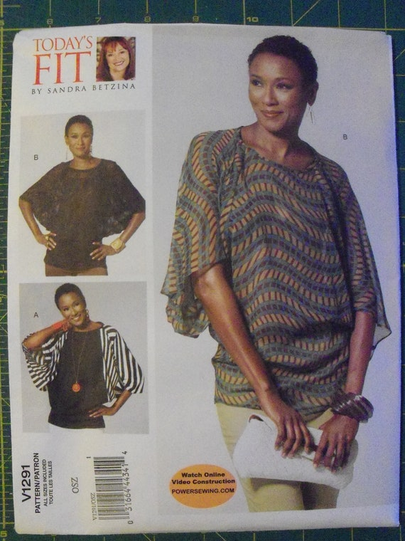 7944 UNCUT McCalls Pattern Loose Fitting Pullover Tops SEWING OOP FF