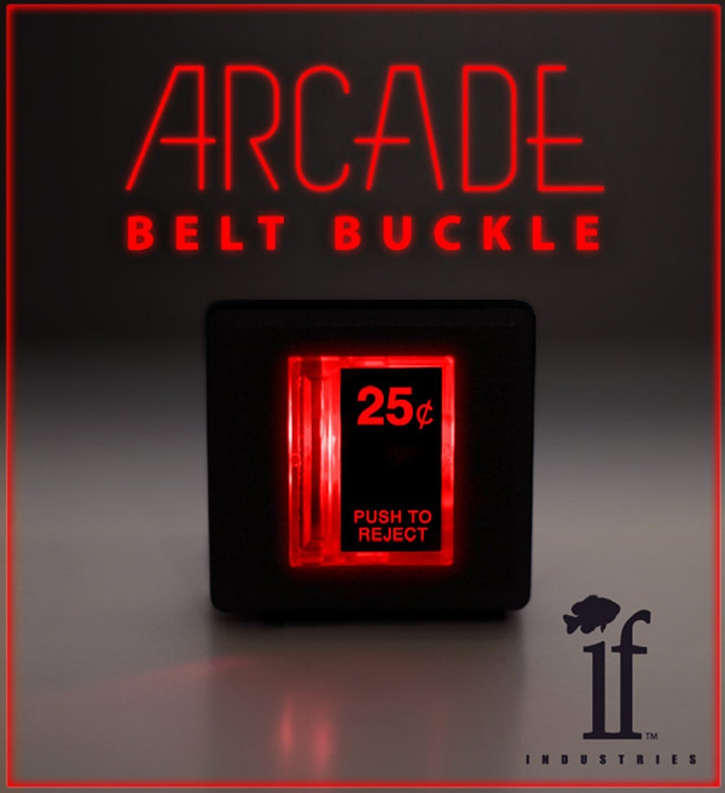 Arcade Belt Buckle... that lights up image 0