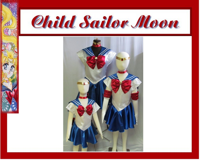 Child s Sailor Moon Cosplay Costume Girls Scout Senshi  dd568cc2166e