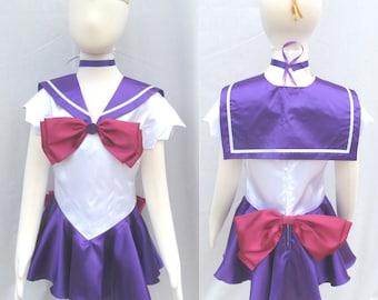 Childu0027s Sailor Saturn Costume Cosplay Costume Size Girls 18mo 2 3 4 5 6 7 8 & Sailor saturn cosplay   Etsy