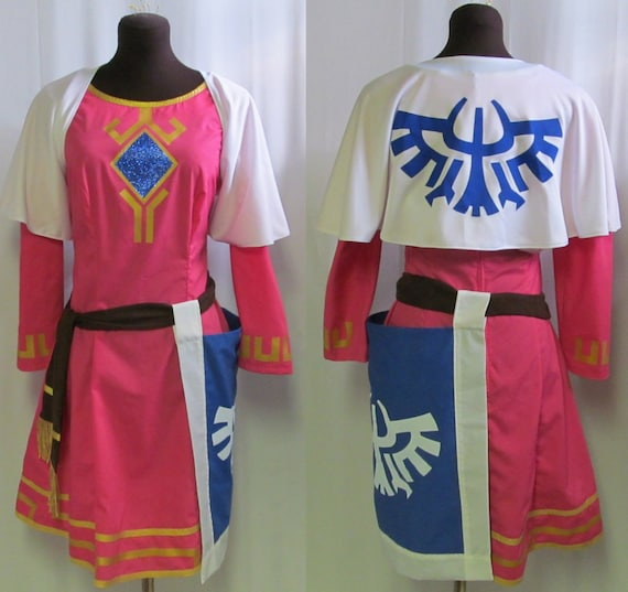 Plus Size Legend Of Zelda Skyward Sword Princess Cosplay Costume Adult Women S Custom Fit 16 18 20 22 24