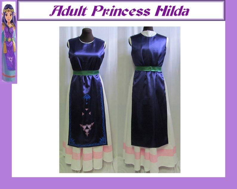 Christmas Plus Size Legend of Zelda Link Between Worlds Princess Hilda Cosplay Costume Adult Women/'s 16 18 20 22 24