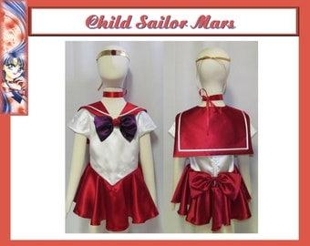 Halloween Child Sailor Moon Mars Cosplay Costume Girls Scout Fuku Inner Senshi Anime Manga Size 18 mo 2 3 4 5 6 7 8 9 10 11 12 14 Unisex