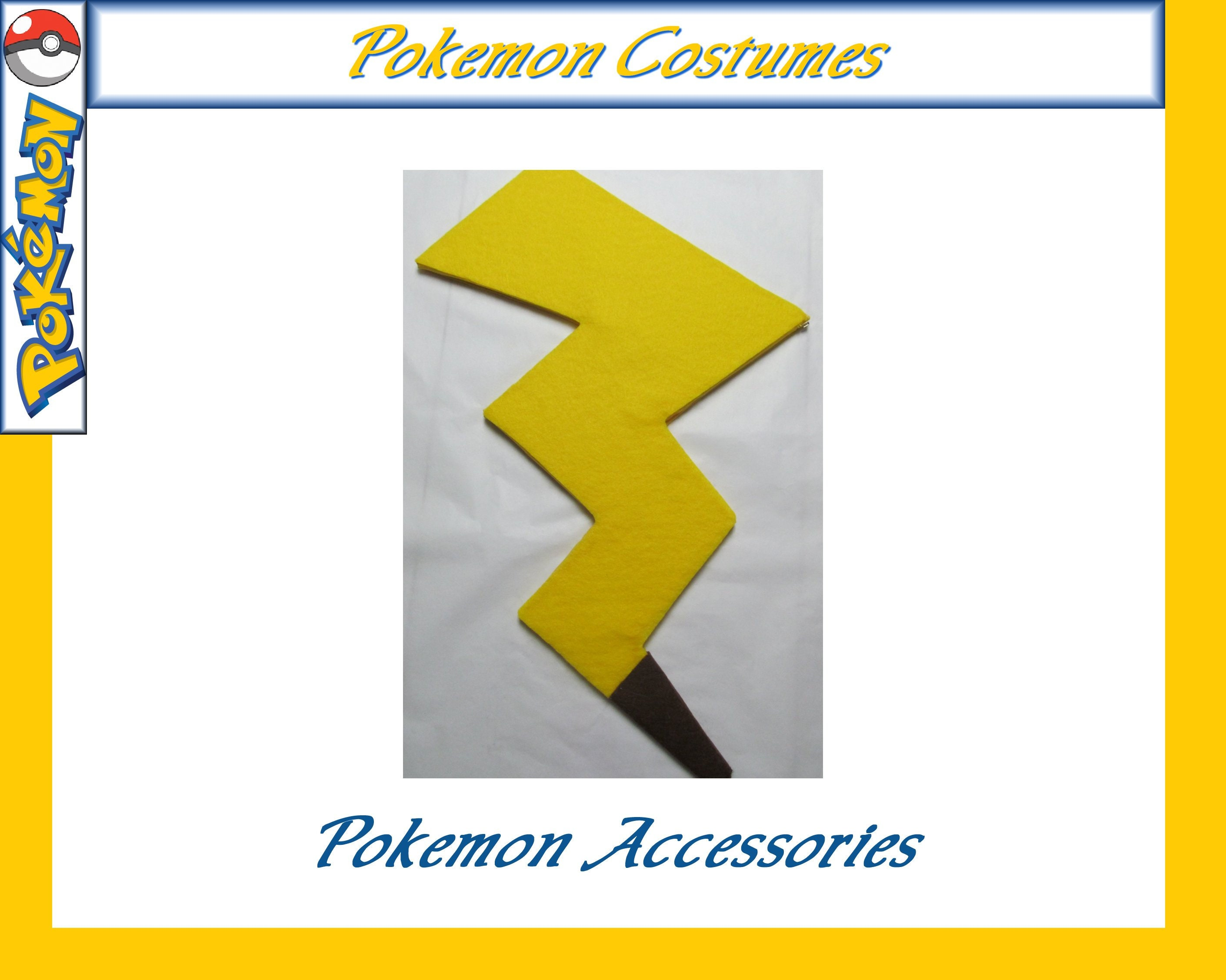 Pokemon Pikachu Tail Cosplay Costume Yellow Electric Mouse Etsy
