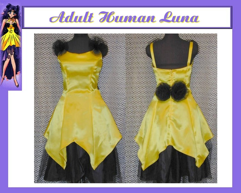 Sailor Moon Human Luna Cosplay Anime Costume Size 4 6 8 10 12 Etsy