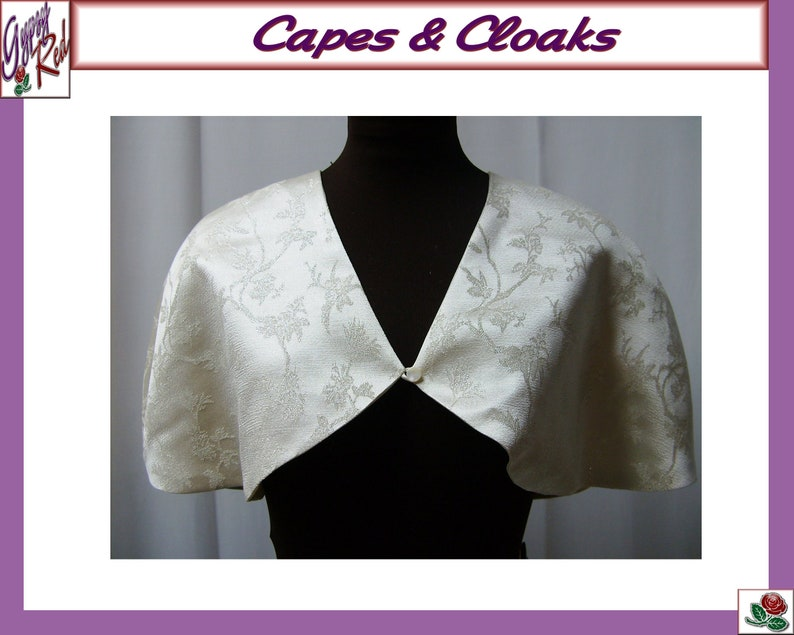 Formal Cloak Men/'s Black Victorian Floor Length Cape M to XXL 2 Capelets Lined