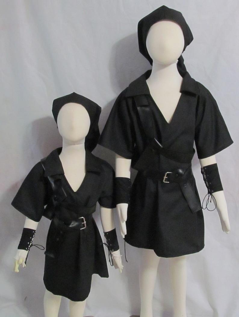 Dark Link Legend of Zelda Black Tunic Cosplay Costume Child Size 3 4 5 6 7 8 9 10 11 12
