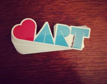Heart Art - Vinyl Sticker