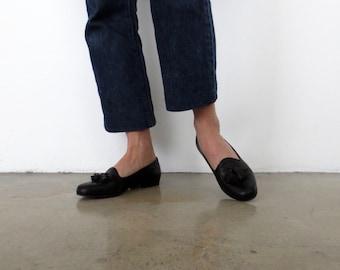 Cole Haan Black Tassel Loafers Size 6