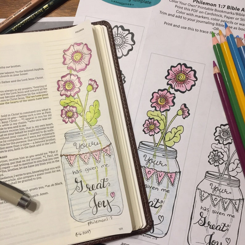 Bible Journaling Verse Art  Margin Art  Bookmark featuring image 0