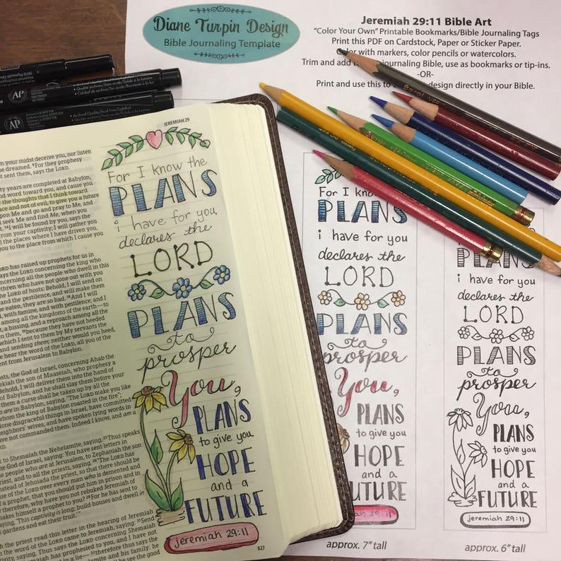 Bible Journaling Verse Art  Margin Art  Bookmark featuring image 0