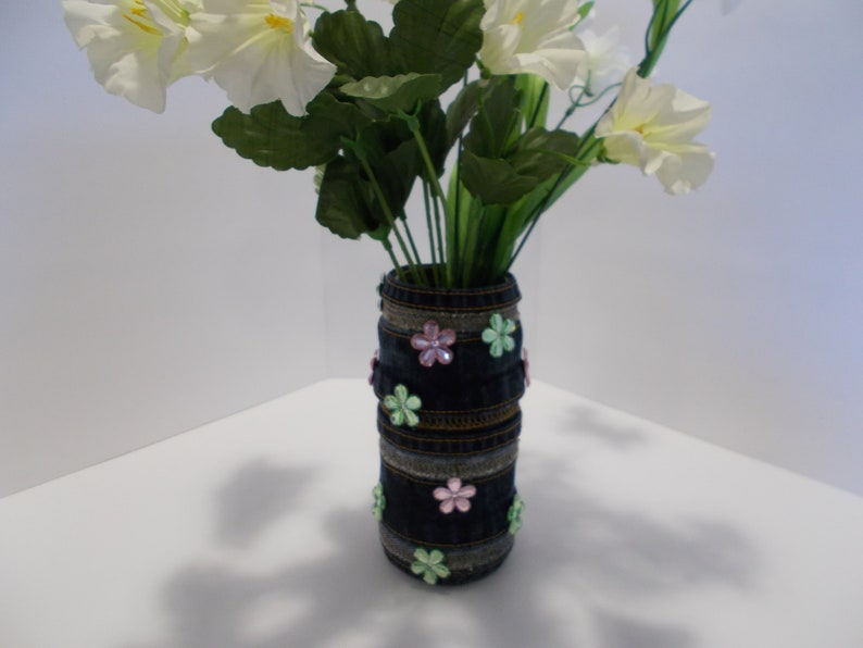 Recycled Denim Vase made from Seams
